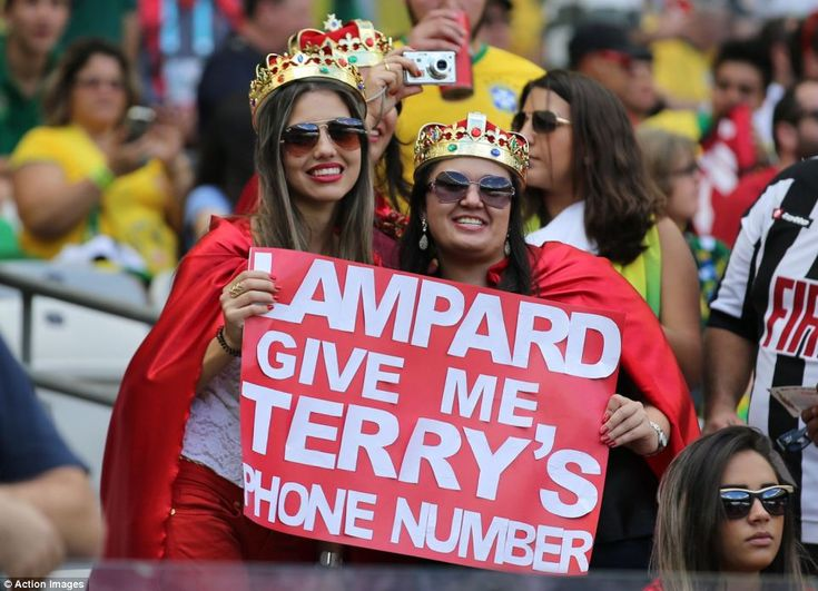 Cheeky: These fans had a message for today's captain Frank Lampard, and his former Chelsea...