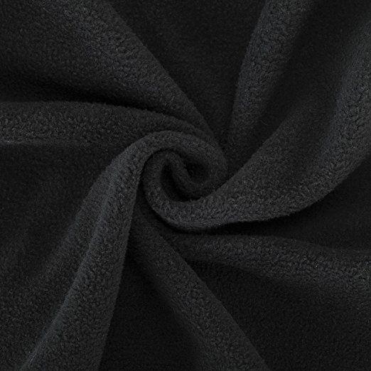 Neotrims Knit Rib Fabric & Cuffs - Tessuto in pile di qualità, finitura anti-pallini conforme alle norme internazionali, in pezze  21 colori moda, pezze misura 50 x 75 cm, peso medio, grammatura 320 g. Adatto per abbigliamento, decorazione casa e lavori di artigianato. L'alternativa vegana alla lana. Prezzo all'ingrosso. (disponibili anche in pezze di 1 metro e œ metro) Quadrato 12. Black