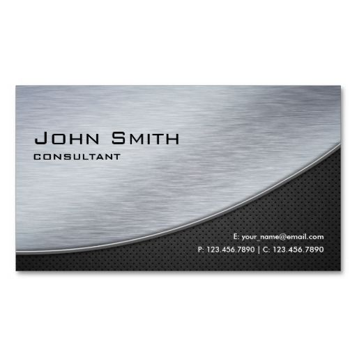 8 best business cards images on pinterest business card design professional elegant modern metal silver computer business card reheart Image collections