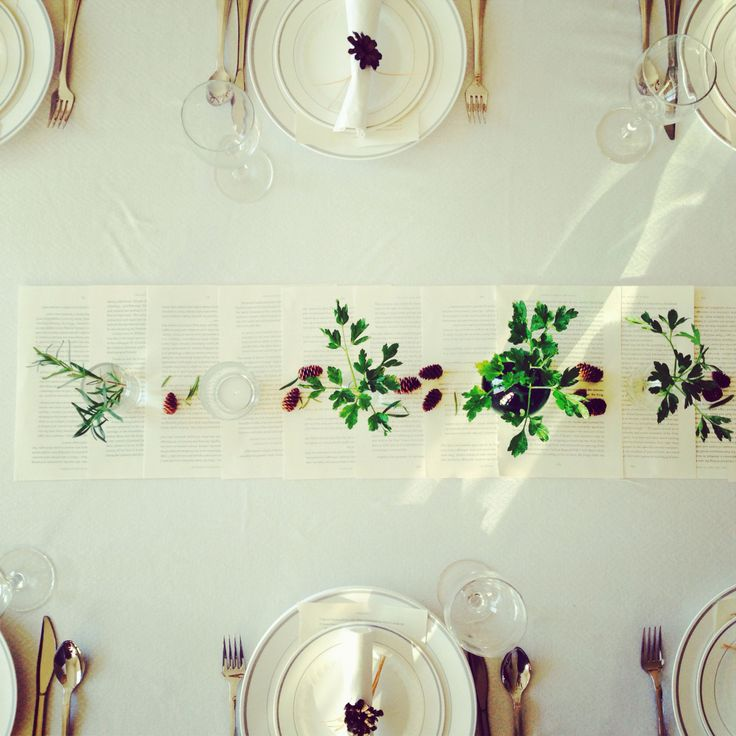 .herb table decor.
