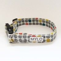 MR MYLO grey, yellow and red spotted dog collar