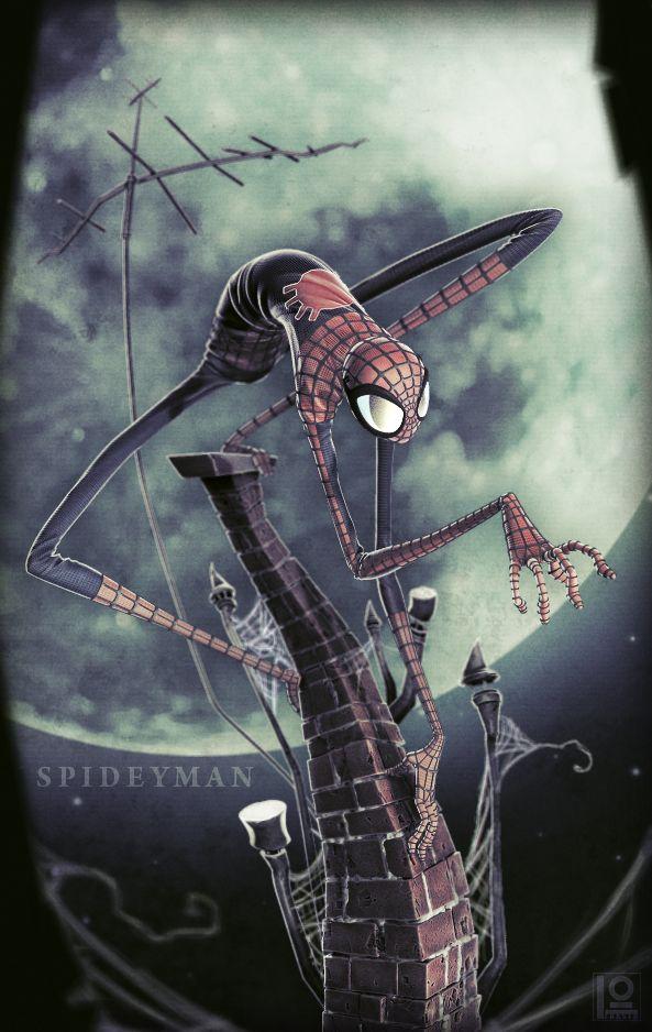 Spider-Man: Spiders Men, Skottieyoung, Skottie Young, Comic Book, Tim Burton, Super Heroes, Comic Art, Fans Art, Duncan Fraser