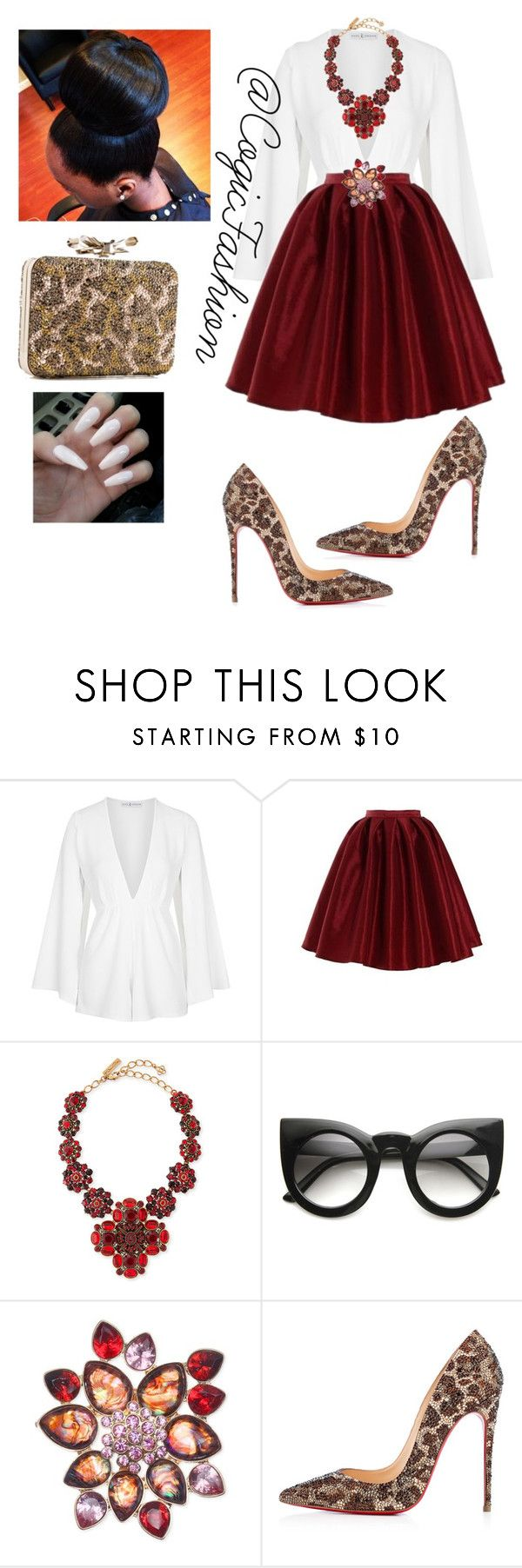 Church by cogic-fashion on Polyvore featuring Rare London, Christian Louboutin, Oscar de la Renta and Jones New York