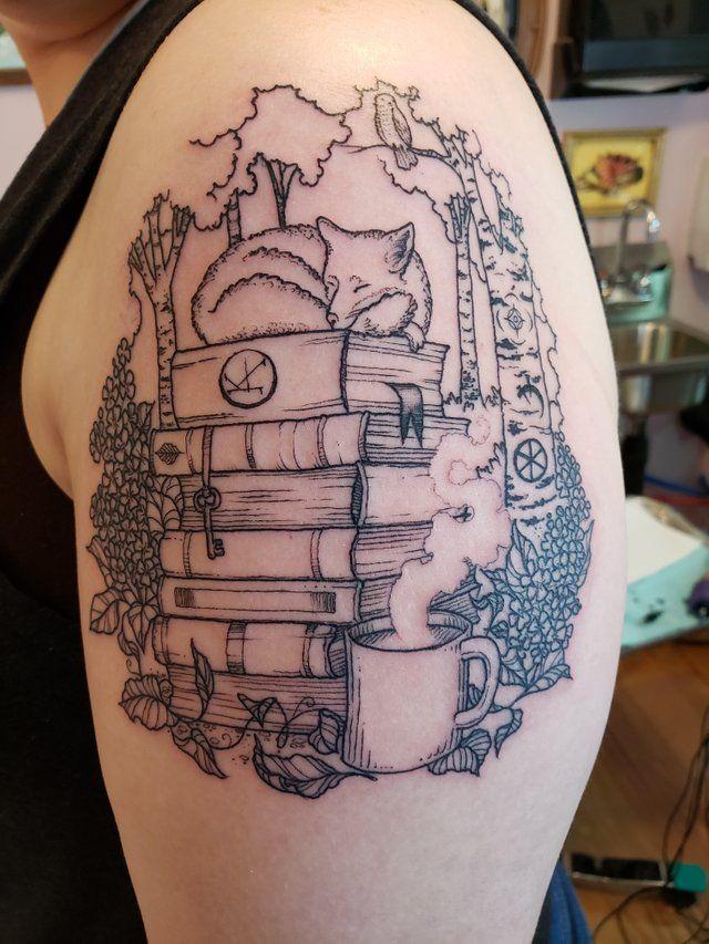 My book nerd tattoo (Rebeka from Brass & Briar, Portland, ME) : tattoos
