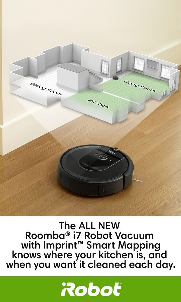 Clean one room – or every room! The ALL NEW Roomba® i7 Robot