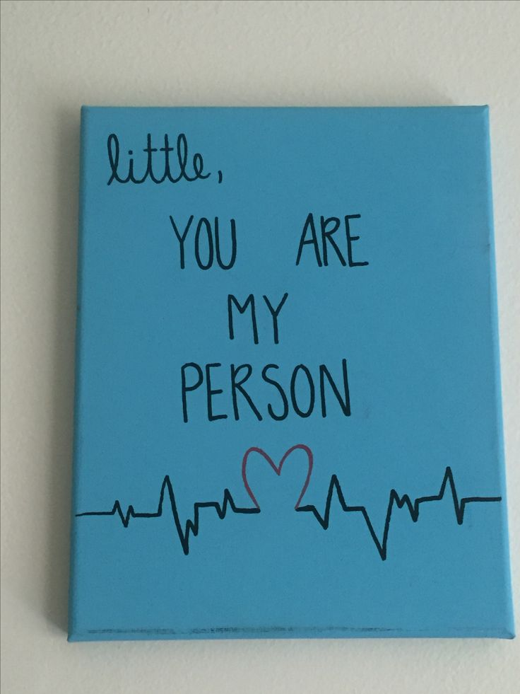 Grey's Anatomy You Are My Person Big/Little canvas