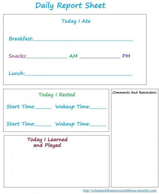 Best 25+ Preschool daily report ideas on Pinterest Preschool - sample weekly report