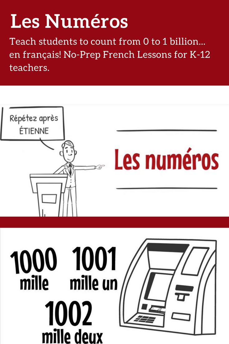 Sans Prep! Fully online, interactive French Lessons that teach students how to count. FREE for 30 days.