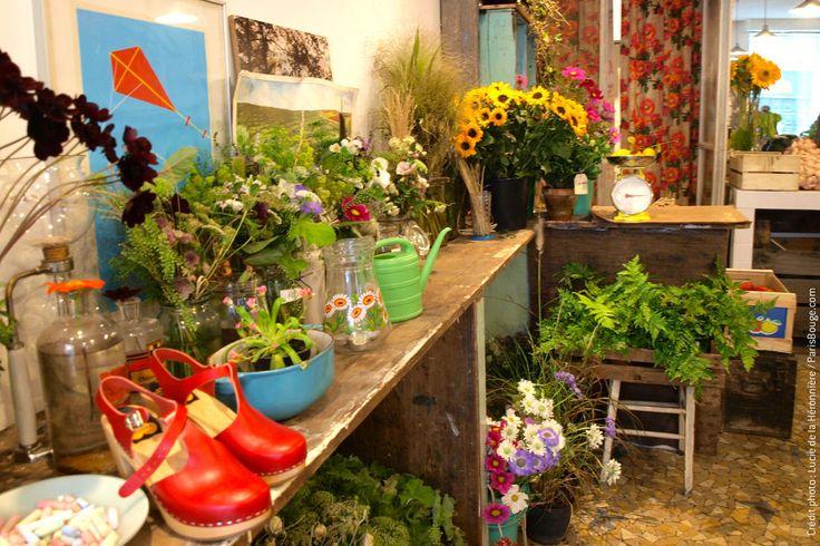 epicerie vegetale paris fleuriste shop bio fruits legumes