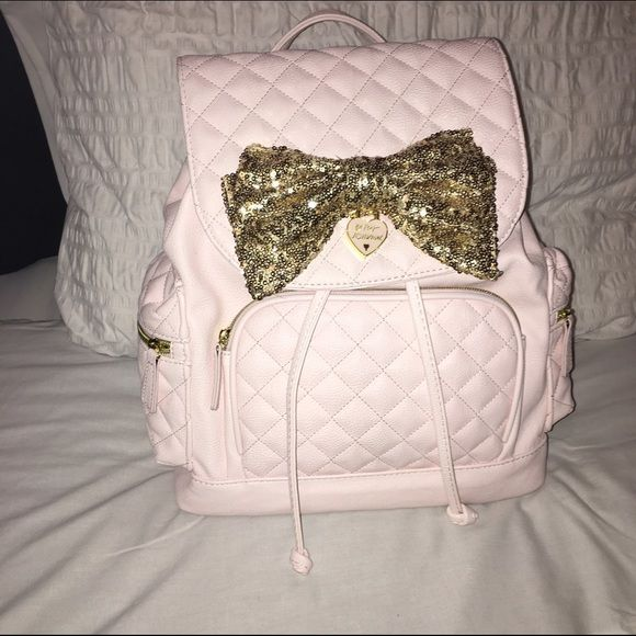 Betsy Johnson Backpack ! Great Condition. Like New. Used Once. Beautiful Interior ! No Stains. No Rips. Willing To Negotiate Price. No Trades && Wont Be Holding Item For Anyone !!! Betsey Johnson Bags Backpacks