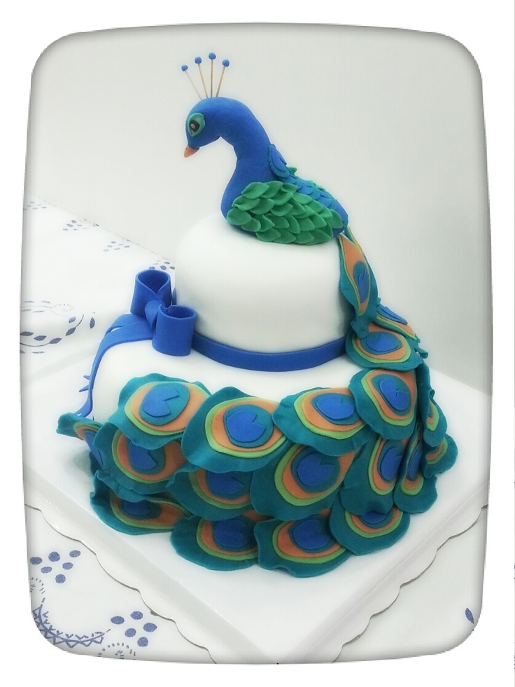Best Krishna Cake Inspiration Images On Pinterest Krishna - Peacock birthday cake