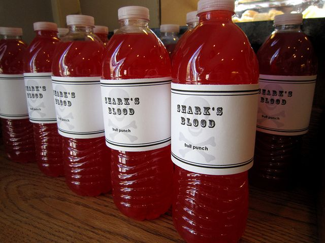 """""""Shark's Blood"""" A little Kool-Aid drink mix makes them all red."""