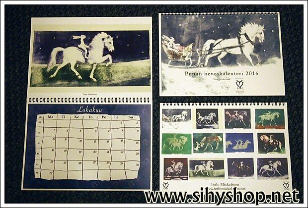 Pupun hevoskalenteri 2016 | SihyShop