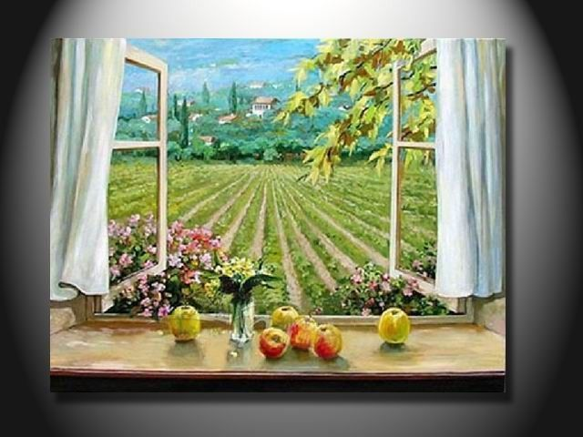Window Oil Painting Oil Painting Pictures Painting Oil