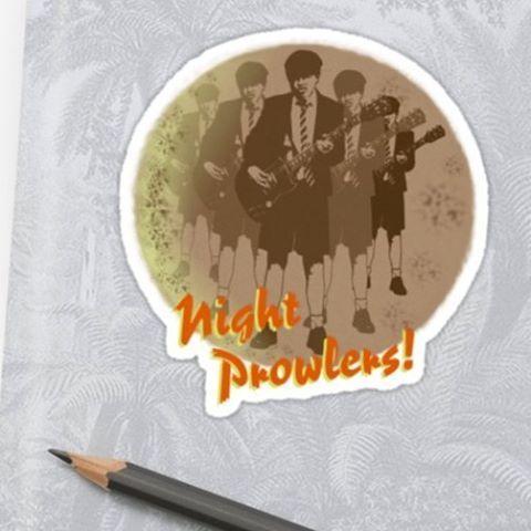Sold!! ..thanks to the buyer of this 'Night Prowlers!' sticker design from my Redbubble webstore. #sales #redbubble #nightprowler #guitars #moon #stickers #sticker #instasticker #typography #acdc #angus #angusyoung #rock #legend #rockguitarist #rockgod #heavymetal #highwaytohell #instalike #instalikes #stick #rocker #music #label #musik #rocklegend #hellsbells #highvoltage #rocknroll #klistermärken