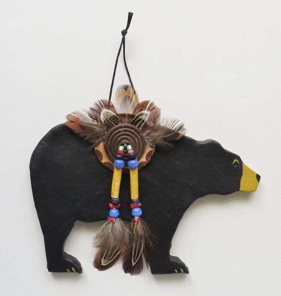 Black bear spirit Native American Indian style by MokiTradingPost