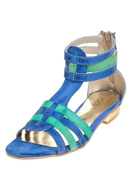 Me encanta! Miralo! Sandalia Azul Foglia Lupinus  de Foglia en Dafiti
