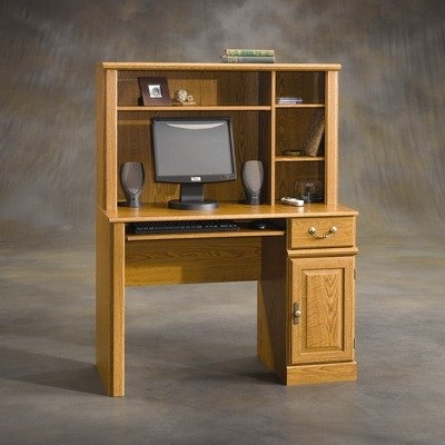 Sauder Orchard Hills Computer Desk With Hutch Carolina Oak At Suliaszone