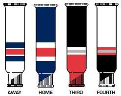 Fulton HKS New York Rangers Team Knit Ice Hockey Socks