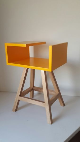 pomarańczowy stolik nocny lub kawowy Stolik AA - acoco-style - Szafki nocne