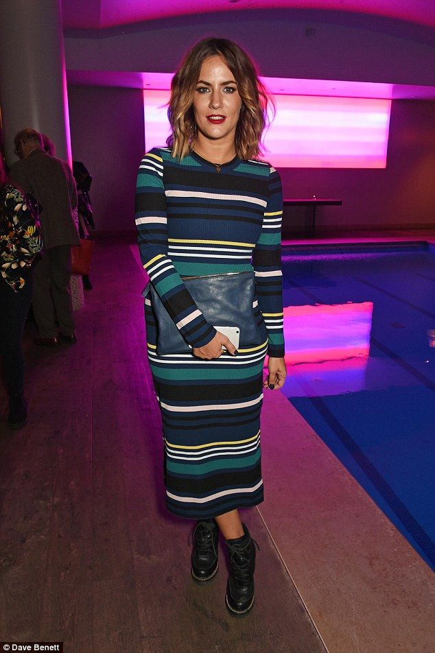 Fashionista: Caroline Flack,36, once again impressed on the style front as she attended the press night after-party for The Libertine at the Haymarket Hotel on Tuesday
