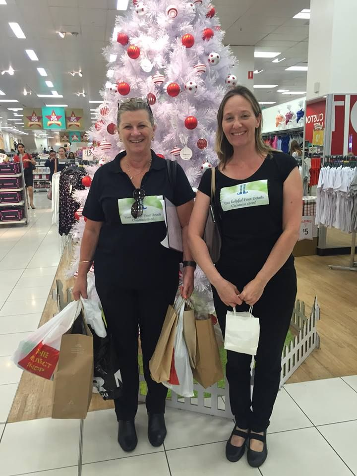 Finer Details Christmas Elf Sara, wondered why Finer Details Christmas Elf Heather couldn't keep up as they shopped and shopped and shopped for their clients Finer Details Concierge and Organiser Service