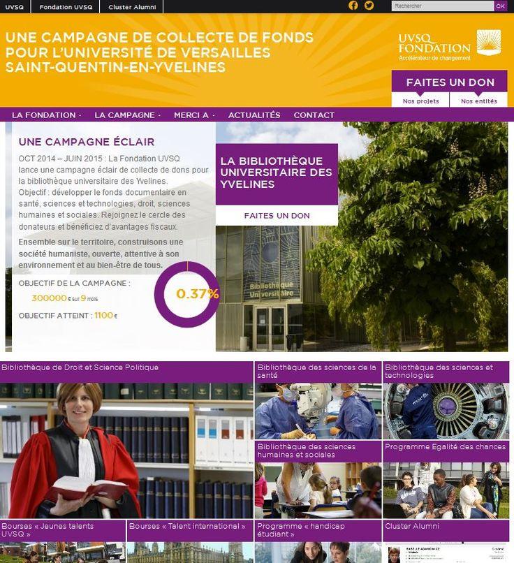 Campagne Fondation UVSQ