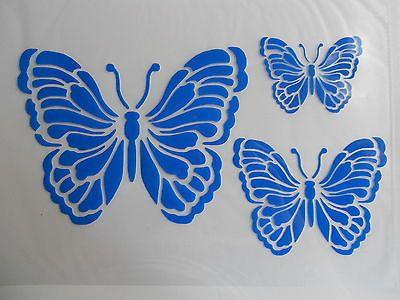 Superb Schablone Stencil Schmetterlinge f r Textil Airbrush Wanddeko u v m auf A