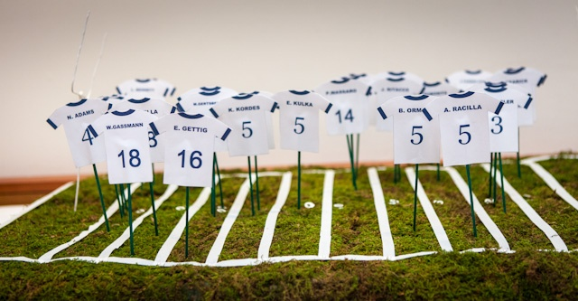 Cute way to give seating arrangements #PSU #Wedding