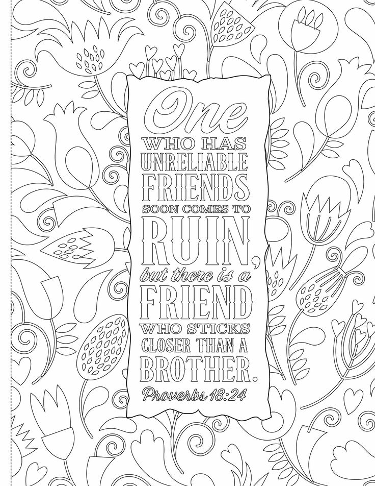 inspiring words 30 verses from the bible you can color zondervan 9780310757283 - I Can Be A Friend Coloring Page