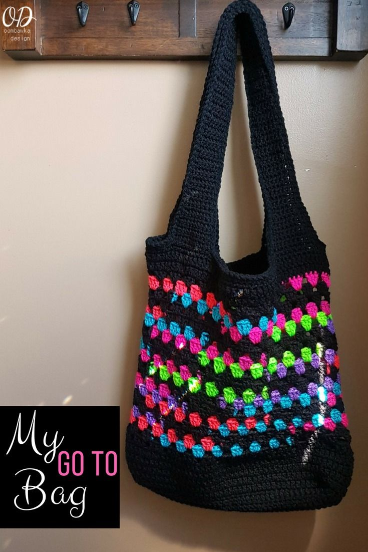 My Go To Bag - A Free Crochet Pattern https://oombawkadesigncrochet.com/2017/07/my-go-to-bag-free-pattern.html