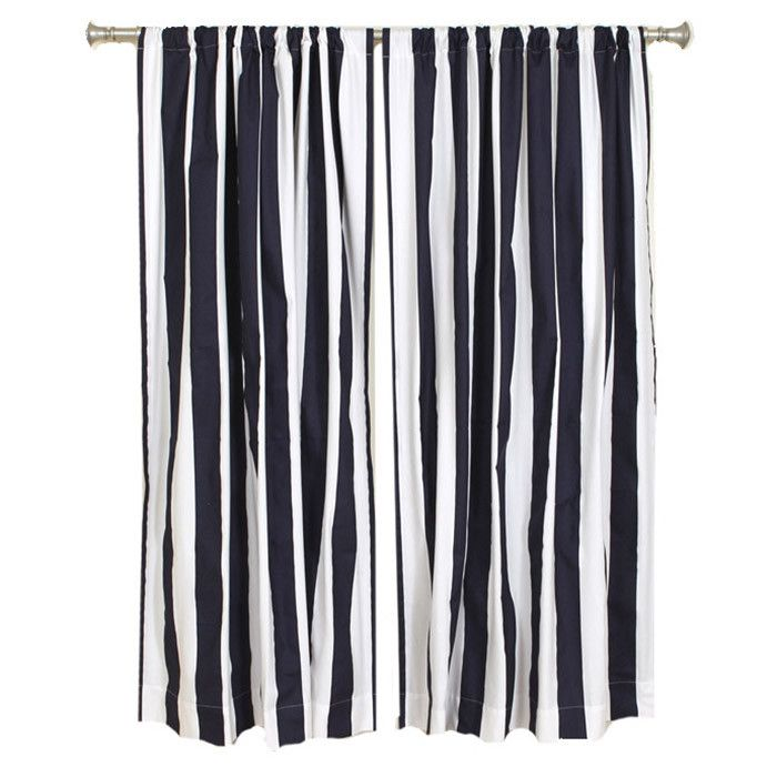 Nautical Striped Curtains Decor