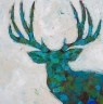 Deer - Mixed medium on wood