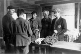 Drancy, France, Jews in the men's clothing storeroom in the camp, 03/12/1942.