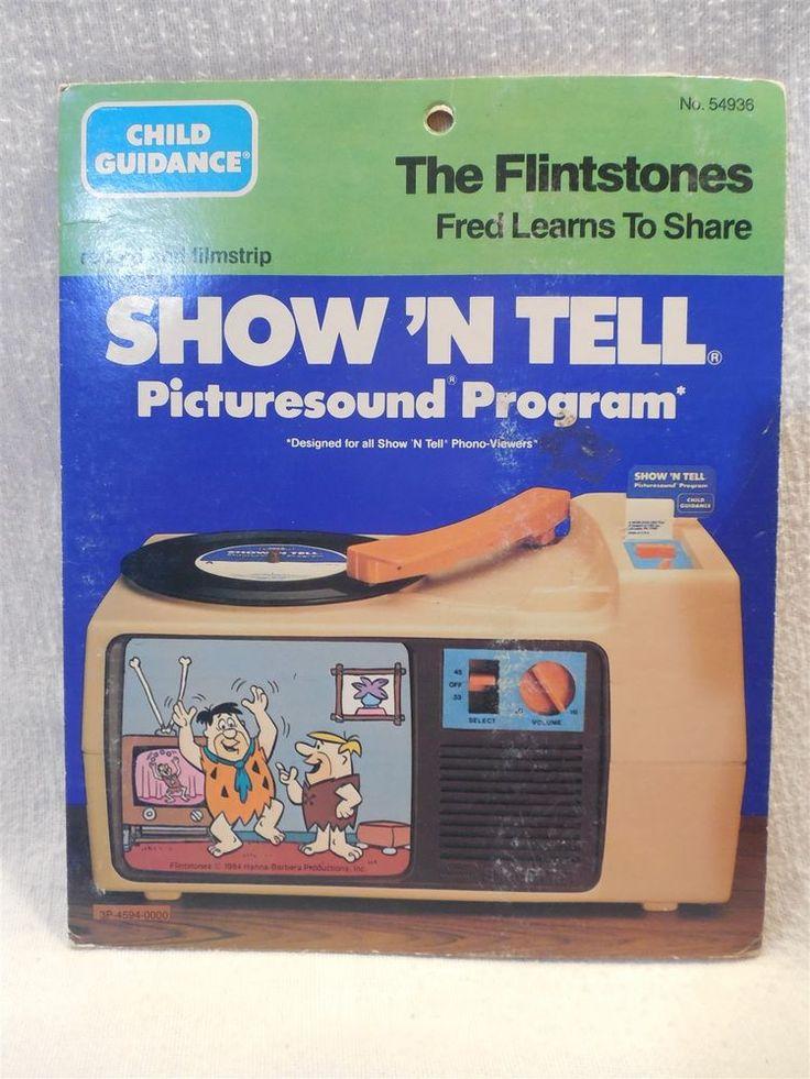 Flintstones 1984 Child Guidance Show 'N Tell Record Film - Fred's Tall Tale  | eBay