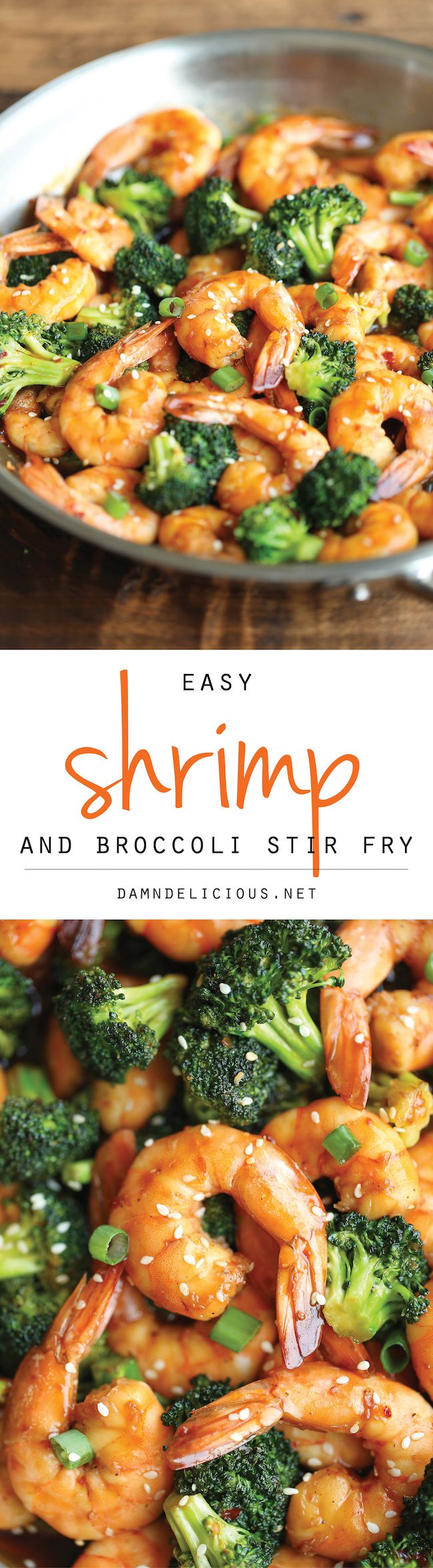 Easy Shrimp and Broccoli Stir Fry - The easiest stir fry you will ever make in just 20 min - it doesn't get easier (or quicker) than that! 287.3 calories. #healthyrecipe