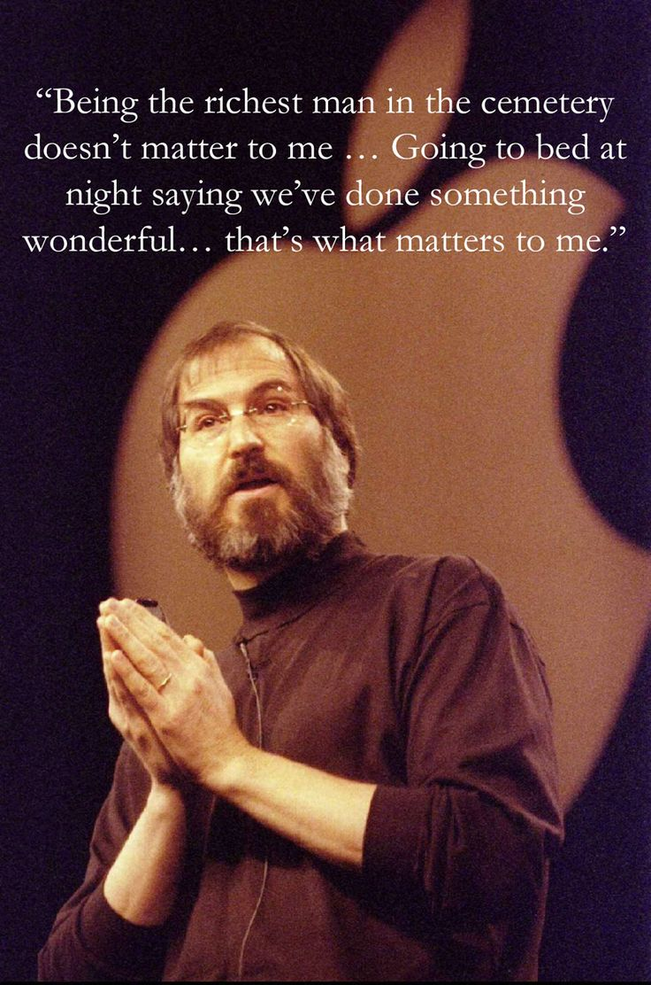 I try to go to bed every night and think if I did something good in the day - it put more meaning to living life day by day    http://thumbpress.com/12-most-inspirational-quotes-from-steve-jobs/