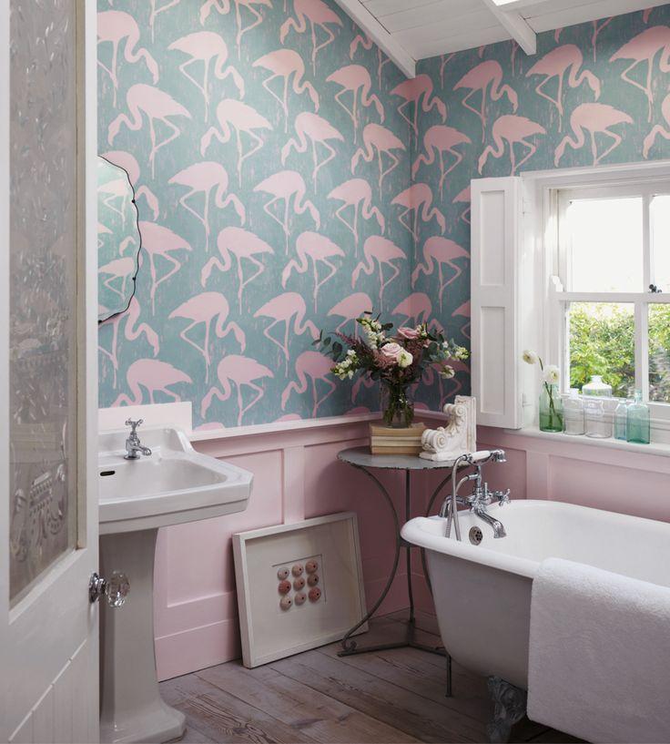 Flamingos Wallpaper by Sanderson | Jane Clayton