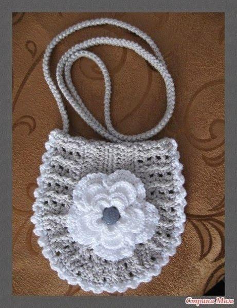 patrones para hacer un bolso para niñas a crochet