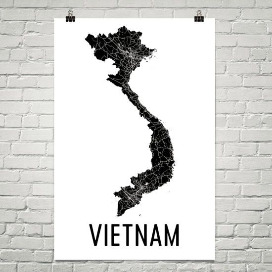 Vietnam Map, Vietnamese Art, Vietnam Gift, Map of Vietnam, Vietnamese Decor, Vietnam Gift, Vietnam Print, Vietnam Poster, Vietnamese
