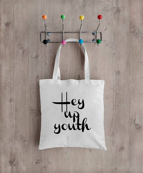 Hey up youth Tote bag Stoke on Trent Dialect   Made from Recycled plastic bottles  www.pepperdoodles.co.uk