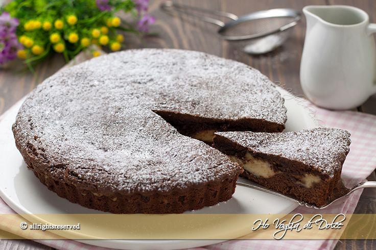 Crostata+morbida+con+crema+e+Nutella