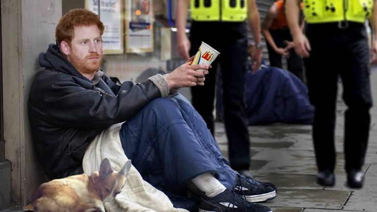 Prince Harry arrested in Windsor for aggressive begging to pay for wedding -- Windsor– Following complaints of aggressive begging on the streets of Windsor today Prince Harry was among the vagrants swept up in a Thames Police sting operation. The Prince was amongst dozens of beggars on the streets of Windsor who were out in force trying to raise money to feed their... --  -- https://rochdaleherald.co.uk/2018/01/05/prince-harry-arrested-windsor-aggressive-begging-pay-wed