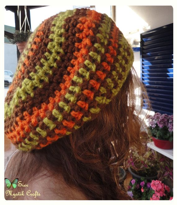 Slouchy Beanie Bob Marley Beanie Orange Hat Crochet by SierDreamS