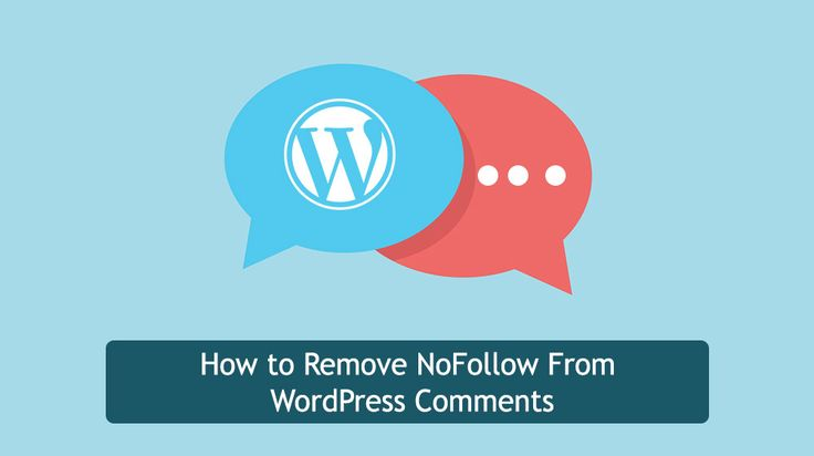 turn off nofollow wordpress comments