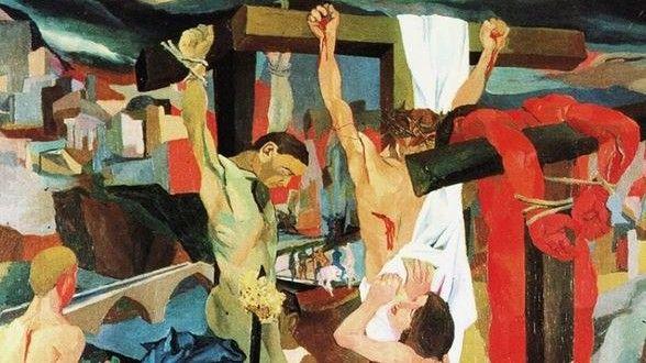Crocifissione - Renato Guttuso, 1941, Galleria Nazionale d'Arte Moderna Roma - CoSA | Contemporary Sacred Art