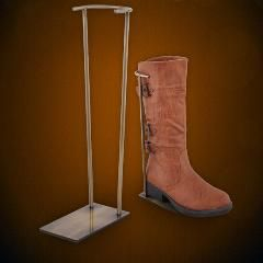 [ $118 OFF ] Retro Surface Kneeboot Holder Stainless Steel Shoes Desktop Display Rack High Boots Showing Stand Boutique Shoes Holder Rack