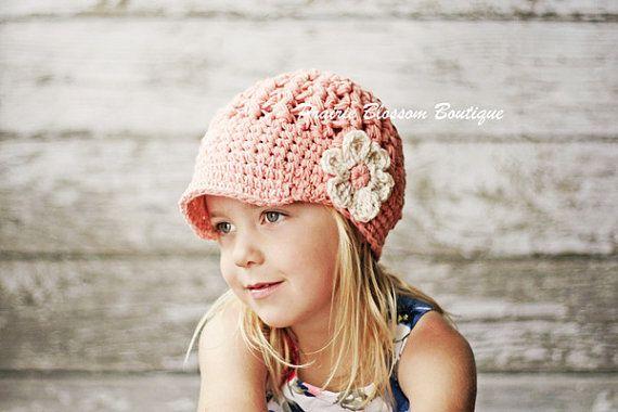 Crochet Hat for Girl Girls Hats Visor Beanie by PBlossomBoutique, $32.00