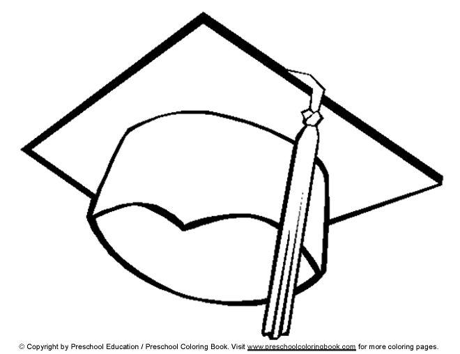 www.preschoolcoloringbook.com / Graduation Coloring Page