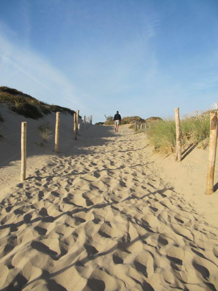 The sandy beach path to Le Bois Plage, Ile de Re